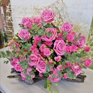 Букет цветов Роза кустовая ,зелень