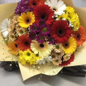 Букет цветов Герберы, сантини