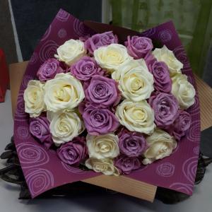 Букет цветов Розы микс  25 шт.