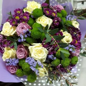 Букет цветов Роза, хризантема