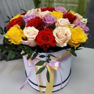 Букет цветов Роза микс 25 шт.