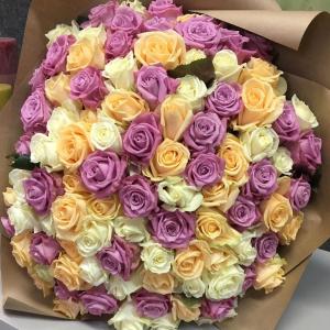 Букет цветов Роза микс 101шт.